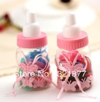 Small jewelry wholesale baby bottles mounted cup cute 50 easily broken rubber band Leather Strap hair accessories headdress