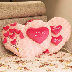FAST Free Shipping UPS Fedex DHL 45CM Two Pieces Valentine Day Love Plush Cushion Lovers Pillows Gifts Valentine Lover Hearts(China (Mainland))