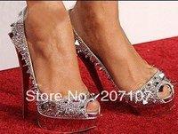 Hot Branded women sandals, designer high heel shoes, girl platform pumps, rivet rhinestone shoes!