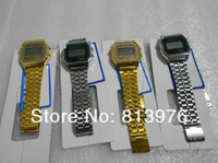 1Pcs Fashion f91 sports watch Gold and silver watches f91 & A159w hot seller Digital wristwatch factory price free shipping