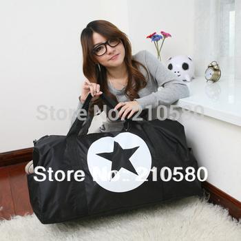 2014 NEW!!! Free shipping Retail Fashion Women Travel Bags Large Capacity 56L-75L Sports Tote High Quality Nylon Black/Pink/Blue