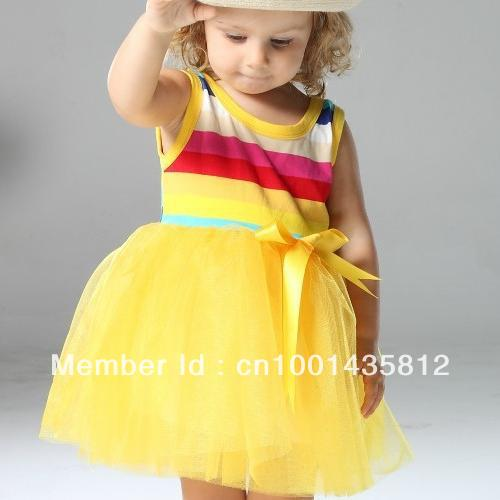 Cute Baby Yellow Dress Dress Girls Cute Baby