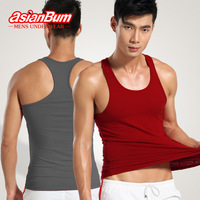 Asianbum male slim 100% cotton thread vest fitness sports vest vesseled basic shirt