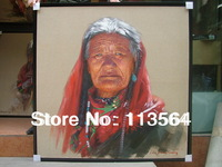a  Tibetan old women(2)----liuxiongguang's ariginal 100% and professional painting artist
