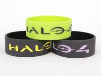 DHL free shipping, 500 pcs HALO 4 / Video Game bracelet / Silicone bracelet/ bracelet designer / bracelet brand
