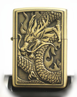 NEW dragon STAR Kirsite Bronze carved Kerosene Cigarette lighter FREE SHIPPING