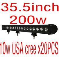 cheap ship  35.5 inch USA cree 10wx20pcs 200 led light bar offroad driving ATV SUV light