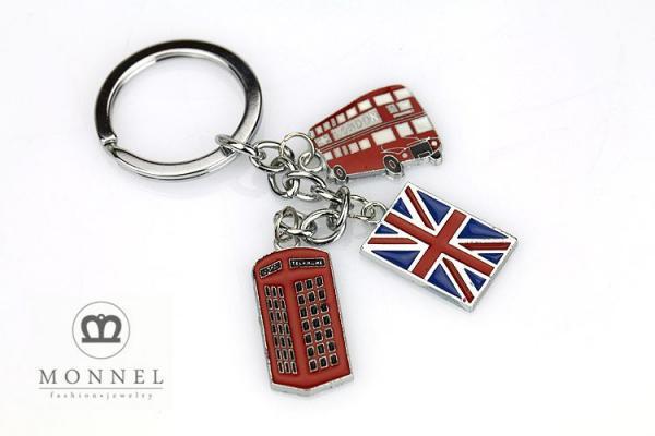 Z320b Custom England London Bus Flag Phone Box Charms A