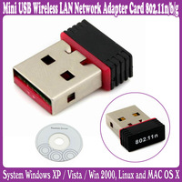 5 pcs/Lot_Mini USB Wireless LAN Network Adapter Card 802.11n/b/g_Free Shipping