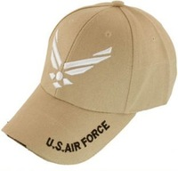 U.S. Air Force logo baseball cap Tan free ship