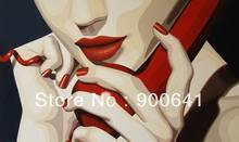 Portrait Oil Painting Pop art  Modern Canvas 50cmx70cm Hand-painted wall art Girls Art Deco PP001(China (Mainland))