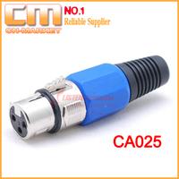 [25pcs/lot] 3 Pole Female XLR Multi-function Connector CA025