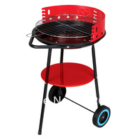BBQ grill Medium mini furnace outdoor charcoal oven with wheels