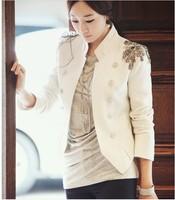 2012 spring and autumn female epaulet decoration short design blazer short jacket m-5-94