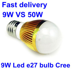 10pcs Cool White 9W Led Bulb E27 Dimmable/Non-dimmable Golden Globe Lamp 85-265V 110-240V Efficiency 2Lots Rebate 2% Light Life(China (Mainland))