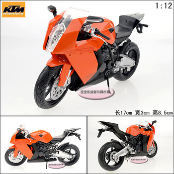 free shipping 1:12 Ktm rc8 super orange rear suspension alloy motorcycle model
