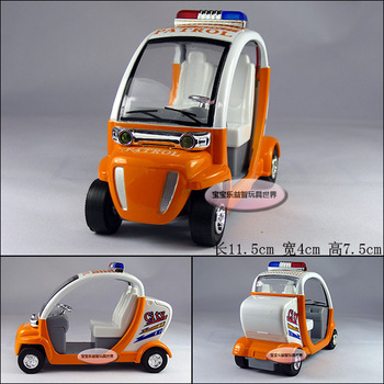 free shipping Plain eco-friendly patrol car orange alloy car model toy