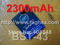 10pcs/lot 2300mAh BST-43 / BST 43 High Capacity Battery Use for Sony Ericsson J108/J10/J20/S001/U100 etc Mobile Phones