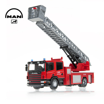Toy car alloy car model ladder truck double and single row child gift