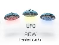 90w NEW design UFO  LED grow light  8:1