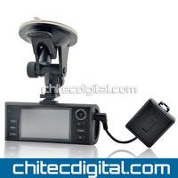 2013 Newest CD-F60 720P HD Dual Camera Car DVR with GPS,G-Sensor,H.264,Night Vision Free Shipping,Drop Shipping