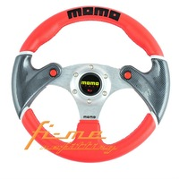 New Year Sale 50% Off / 1 pc Retail / Free Shipping MOMO Steering Wheel Wrapped with PU Leather Red Color
