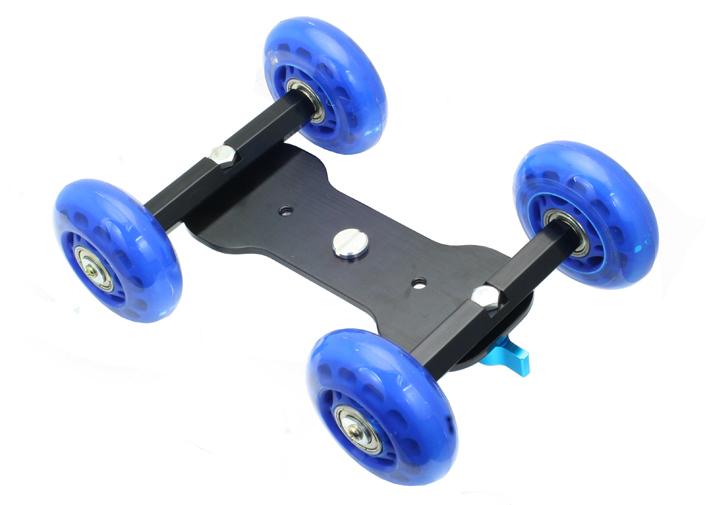 Wholesale Mini Blue Desktop DSLR Camera Vedio Photograph Rail Track Slider Table Dolly Car(Hong Kong)
