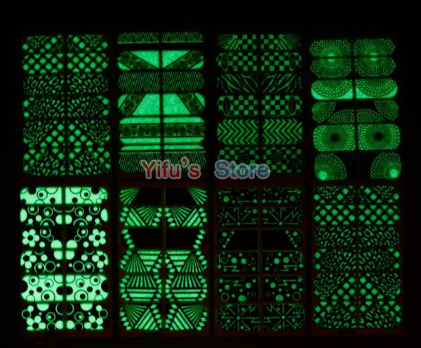 Grátis frete unhas Luminous francês Sticker Wraps unhas folha Mix Patch de arte produto 32 estilos disponíveis 120 jogos/lote atacado(China (Mainland))