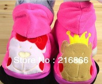 Free shipping hot selling products Winter detonation of coral fleece four feet pet dog  clothes  coat princess prince put