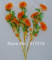 orange flower home decoration Modern fashion european crystal flowers artificial flowers wholesale & retail 3pcs/lot A03-E4