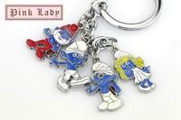 Z215b Latest Design Blue Cartoon Guys Girls Family Charms Keychain