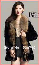hot selling!High-quality 2013 NEW styles real fur mink rabbit fox raccoon fur coat/jacket/vest/gilet/shrug(China (Mainland))