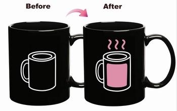 2013 New style 96PCS/Lot colour changing mug Temperature Sensitive Novelty Gift