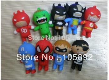 Free shipping 50pcs/lot 2GB 4GB 8GB 16GB 32GB superman war star usb flash drive memory stick thumb drive usb pendrive gift