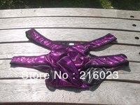 FREE SHIPPING Sexy Man's Shiny Thong Brief Soft Underwear G-string Shorts Hot Purple