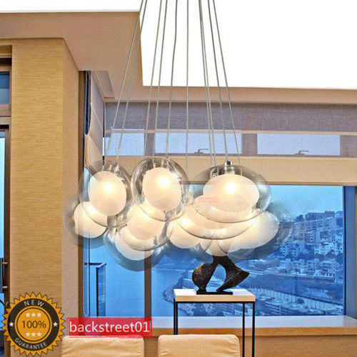 New Modern 10 Lights Glass LED Pendant Lamp Backstreet01(China (Mainland))