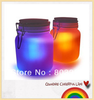 LED sunjar,olar powered lamp,store-up sunshine for the night time,yellow and blue light can change