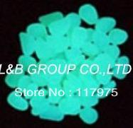 1kilo Aquablue color glow in the dark/ photoluminescent resin stone/ glow pebble+SHIPPING Discount