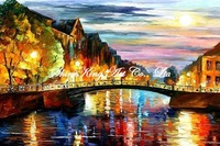 palette knife oil painting  modern oil painting canvas oil painting  K555 40x60cm