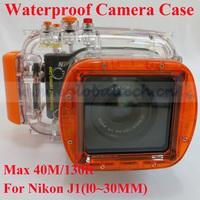 Underwater Case For Camera NikonJ1 10-30mm Lens, 40M Waterproof Camera Cover, Firm Digital Camera Showerproof Camera Bag
