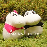 J1 Free shipping, yokpoo cobopanda lovers plush panda toy, 1pair
