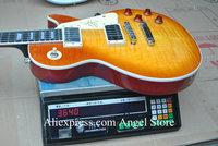 Custom Jimmy Page signature 1958 ebony mahogany electric guitar China Guitar in stock