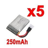 5x LiPo Battery 240mAh 3.7V 250mAh for RC UDI U816 Quadcopter U816A CP QR FP
