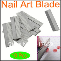 10pack 10pcs/pack 100pcs Stainless Steel Nail Art Decorating Fimo Polymer Clay Canes Rods Razor Blade Cutter free shipping