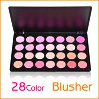 Free shipping Professional Cosmetic 28 Colors Makeup Kit Blush Powder Palette Blusher