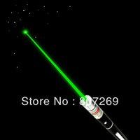 Mid-open Green Laser Pointer Pen 200mw  Beam w/ 2x AAA batteries Best price,EK brand