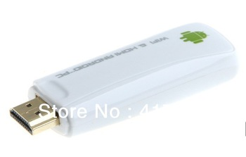 Free shipping!!!new white android 4.0 Smart TV Google Box Skype 1080P HD Player pc mini internet