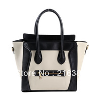 2013 Fashion Color Block Smiley Face Women's Handbag High Quality Designer Ladies' Tote Bag
