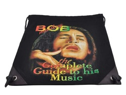 "New Bob Marley Face ""the Complete Guide to his Music"" Canvas Tote Backpack Bag FREE SHIPPING(China (Mainland))"