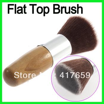 1 шт. кисть косметика для макияжа плоской вершиной буфера основной инструмент деревянной ...